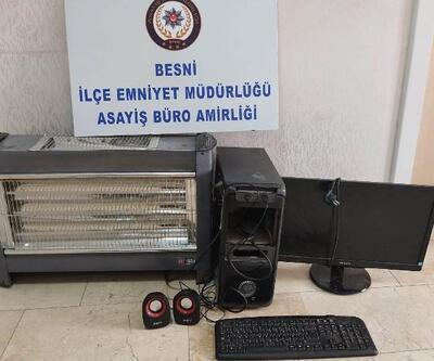 Besni'de hırsızlık şüphelisi tutuklandı