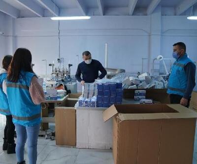 Erbaa'da, maske kutuları geri dönüşüme gidiyor