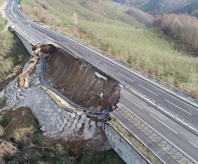 D-655 Karayolu'nun 85 metrelik bölümü çöktü