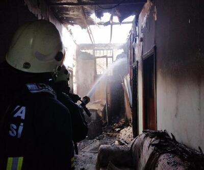 Prefabrik evde yangın çıktı