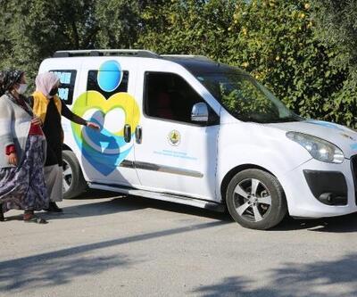 Erdemli Belediyesi'nden pandemi sürecinde 'Anne Taksi' projesi