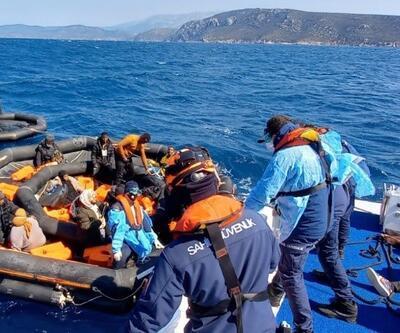 Çeşme'de 37 kaçak göçmen kurtarıldı