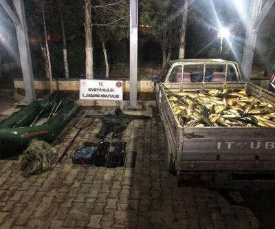 Nevşehir'de elektrikle balık avlayan 3 kişi yakalandı