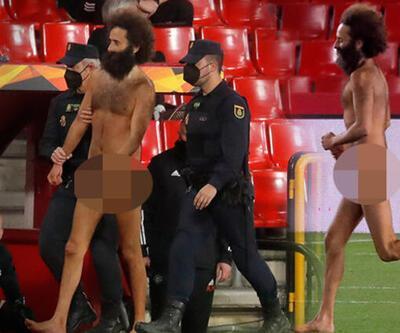 Son dakika... Avrupa Ligi maçında çırılçıplak sahaya girdi!