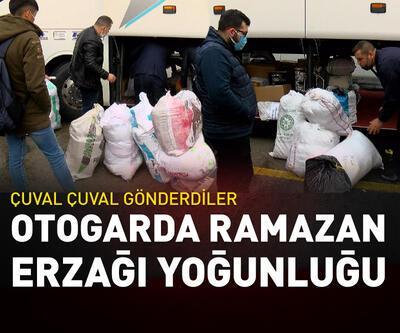 Otogarda ramazan erzağı yoğunluğu