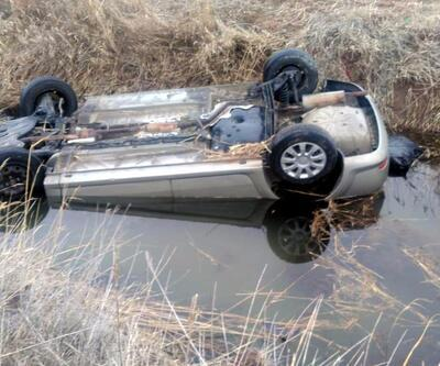 Sulama kanalına uçan otomobilde, aynı aileden 1'i çocuk 4 kişi öldü