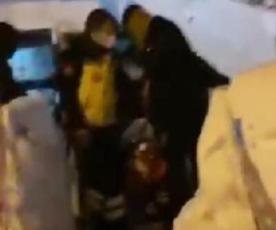 Kar ve tipiden yolu kapanan köyde kalp krizi geçiren hasta, 2 saatte kurtarıldı