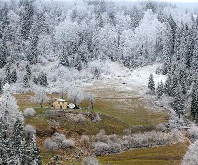 Zigana Dağı'nda iki mevsim bir arada yaşanıyor