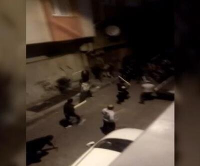 Akrabalar taş ve sopalarla birbirine saldırdı
