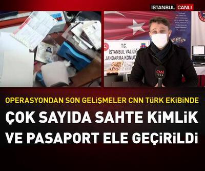 Çok sayıda sahte kimlik ve pasaport ele geçirildi