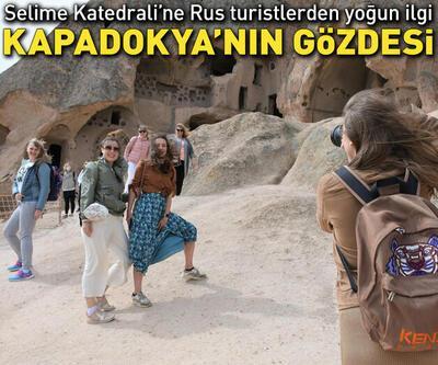 Kapadokya'nın gözdesi Selime Katedrali'ne turist akını