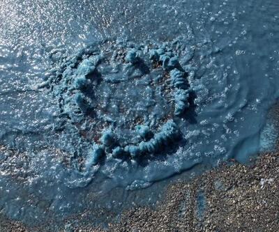 Esenyurt'ta mavi su bu kez rögardan fışkırdı