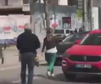 Sinir krizi geçiren kadın trafiği birbirine kattı