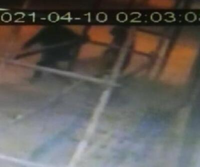 İnşaat hırsızları kamerada