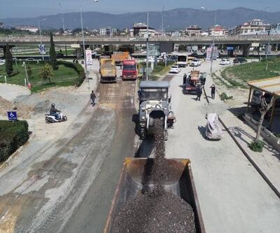 Şükrü Balcı Caddesi'nde beton asfalt çalışmaları başladı