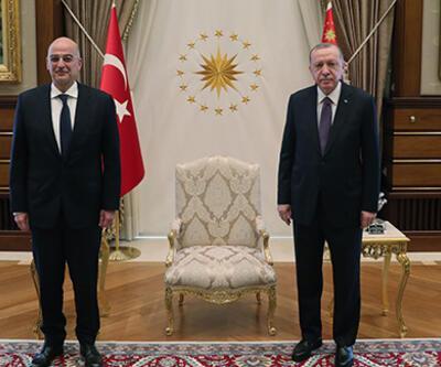 Erdoğan, Yunan Bakan Dendias'ı kabul etti