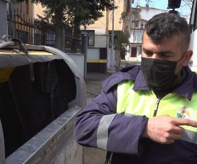 Çöp konteynerine terk edilen yavru kedileri temizlik personelinin dikkati kurtardı