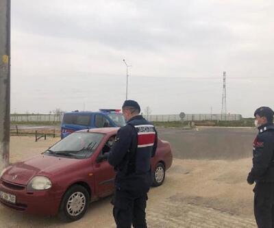 İpsala'da polis ve jandarmadan kısıtlama denetimi