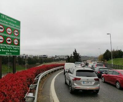 İstanbul'da kısıtlama sonrası köprü trafiği