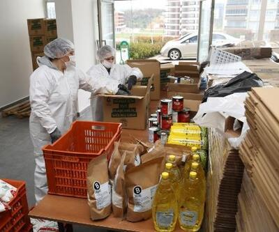 Nilüfer Belediyesi'nden erzak yardımı