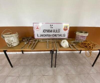 Adıyaman'da kaçak kazıya 2 gözaltı