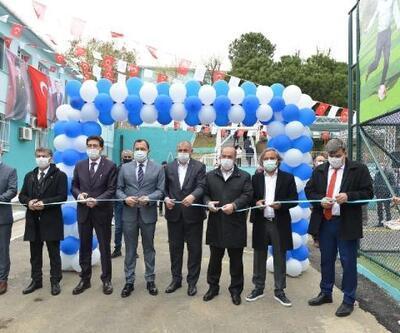 Mediha Mehmet Tetikol Ortaokulu çok amaçlı spor sahası hizmete açıldı