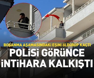 Polisi görünce balkona çıkıp intihara kalkıştı