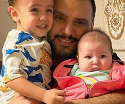 Alişan, oğlu Burak ve kızı Eliz ile birlikte objektif karşısına geçti