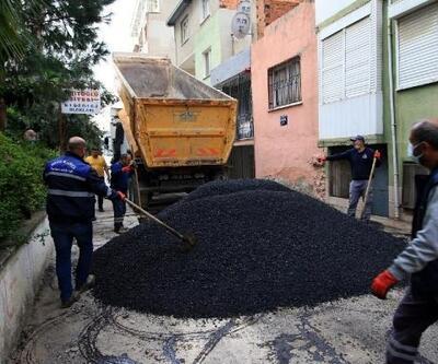 Bayraklı da sokaklar asfaltlanıyor
