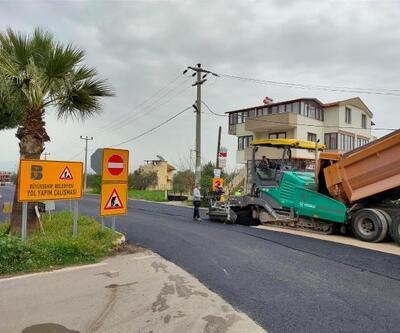 Balıkesir Büyükşehir Belediyesi, Edremit Körfezi'nde asfaltlama çalışmalarını sürdürüyor