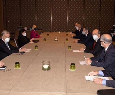 SON DAKİKA: Cenevre'deki Kıbrıs konferansında Guterres-Tatar görüşmesi sona erdi