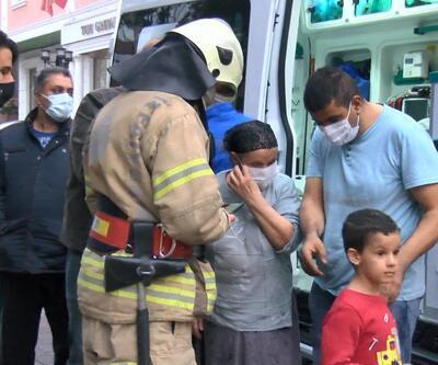 Güngören'de yangın! 1'i çocuk 2 kişi dumandan etkilendi