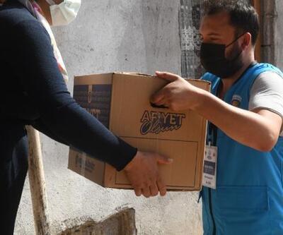 Yenişehir Belediyesi gıda kolisi desteğini sürdürüyor