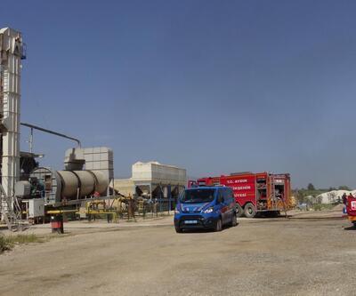 Zift yapım tesisinde yangın; 60 ton katkı maddesi yandı