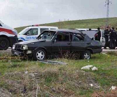 Çubuk'ta trafik kazası: 1 ölü, 2 yaralı