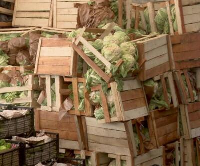 Satılmayan tonlarca meyve ve sebze çöpe gitti