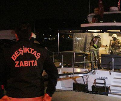 İstanbul'da lüks teknede yangın!