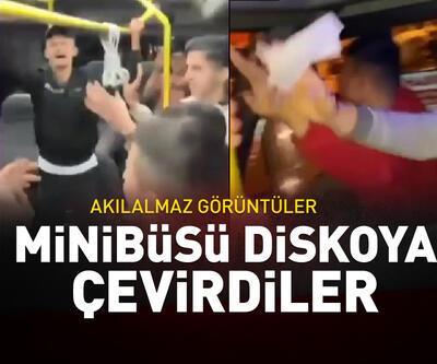 Minibüsü 'maskesiz-mesafesiz' diskoya çevirdiler