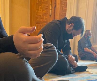 Berat Albayrak Çamlıca Camii'nde görüntülendi