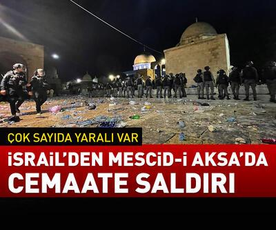 İsrail'den Mescid-i Aksa'da cemaate saldırı!