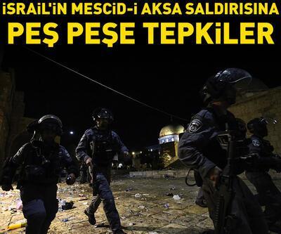 İsrail'in Mescid-i Aksa saldırısına peş peşe tepkiler