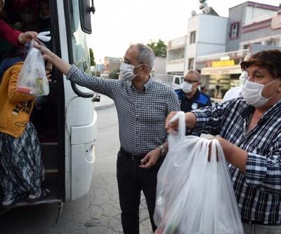 Başkan Bozdoğan'dan tarım işçilerine sürpriz