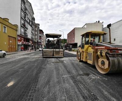 Tam kapanmada asfalt mesaisi