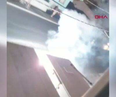 Kablo yangını mahalleyi aydınlattı... Patlamalar çevredekileri korkuttu