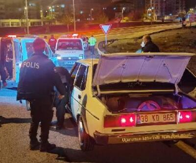Polisten kaçan ehliyetsiz sürücüye 7 bin TL ceza