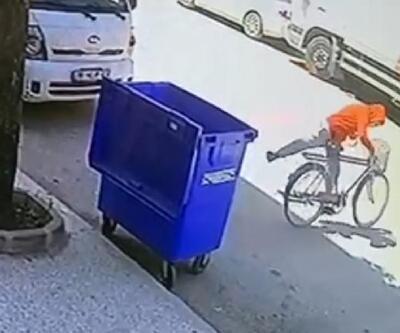 Bisikletin çalınma anı kamerada