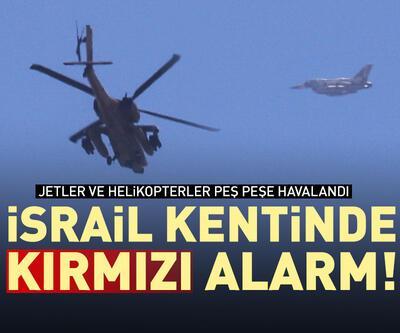 İsrail kenti Aşkelon'da kırımız alarm! Jetler havada!