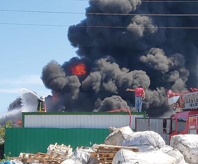 Çanakkale'de tehlikesiz atık alım merkezinde yangın