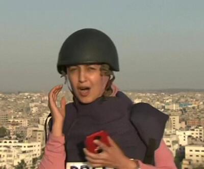 Gazze'de haber yapan ekip dehşet dolu anlar yaşadı