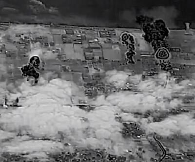 İsrail ordusu Gazze'ye yönelik hava saldırılarına ait görüntüleri yayınladı
